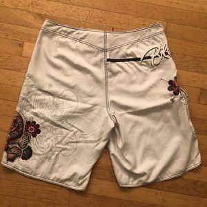 Billabong Swim - Billabong Men's White Board Shorts Skull